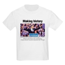 Making History: Obama Clinches Nomination T-Shirt