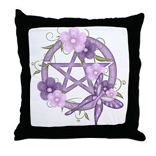 Funny Wiccan Throw Pillow