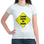 Loaded Diaper on Board - Jr. Ringer T-Shirt