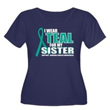 OC: Teal fo Sister Women's Plus Size Scoop Neck Da