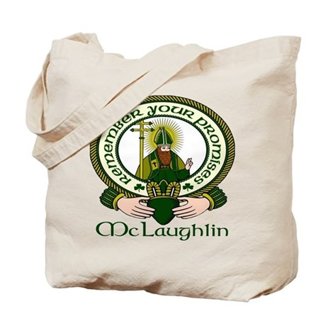 McLaughlin Clan Motto Tote Bag