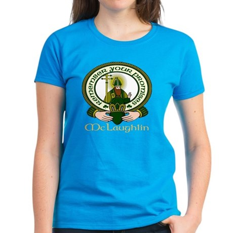 McLaughlin Clan Motto Women's Dark T-Shirt