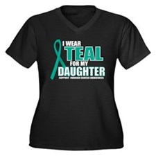 OC: Teal For Daughter Women's Plus Size V-Neck Dar