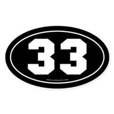 #33 Euro Bumper Oval Sticker -Black