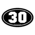 #30 Euro Bumper Oval Sticker -Black