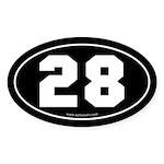 #28 Euro Bumper Oval Sticker -Black