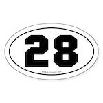 #28 Euro Bumper Oval Sticker -White