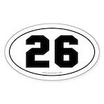 #26 Euro Bumper Oval Sticker -White