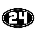 #24 Euro Bumper Oval Sticker -Black