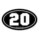 #20 Euro Bumper Oval Sticker -Black