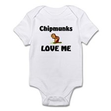 Chipmunks Love Me Infant Bodysuit