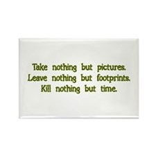 Pictures, Footprints Rectangle Magnet