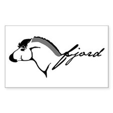Fjord Horse Rectangle Decal