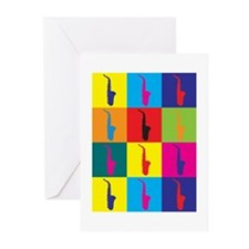 Saxophone Pop Art Greeting Cards (Pk of 10)