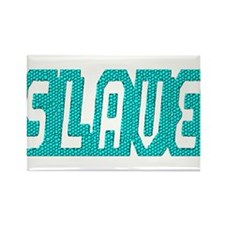 SLAVE-TEAL MOSAIC OUTLINE Rectangle Magnet