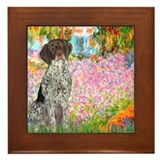 Garden/German Pointer Framed Tile