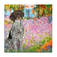 Garden/German Pointer Tile Coaster