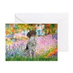 Garden/German Pointer Greeting Card