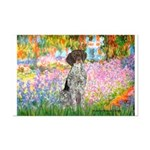 Garden/German Pointer Mini Poster Print