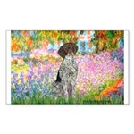 Garden/German Pointer Sticker (Rectangle 10 pk)