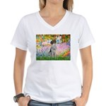 Garden/German Pointer Women's V-Neck T-Shirt