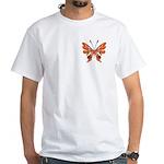 Butterfly Tattoo White T-Shirt
