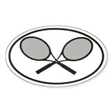 Tennis car stickers Oval Bumper Stickers