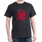 Red Spiral Crop Circle T-Shirt