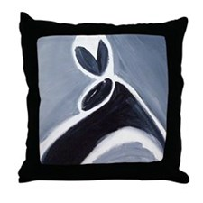 study in black white and grey Throw Pillow