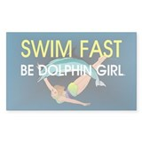 TOP Swim Slogan Rectangle Decal