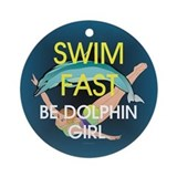 TOP Swim Slogan Ornament (Round)