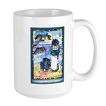 Bird Watching @ Yaquina Head Lighthouse Large Mug