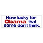 Lucky for Obama Bumper Sticker
