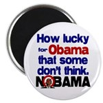 """Lucky for Obama 2.25"""" Magnet (10 pack)"""
