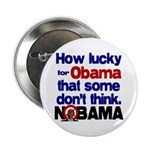 """Lucky for Obama 2.25"""" Button (100 pack)"""