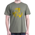 Gold Bubbles Crop Circle T-Shirt