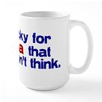 Lucky for Obama Large Mug