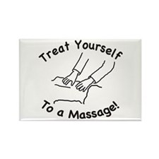 Treat Yourself To A Massage! Rectangle Magnet