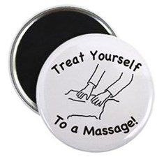 "Treat Yourself To A Massage 2.25"" Magnet (10"