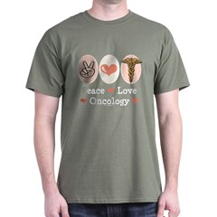 Peace Love Oncology Dark T-Shirt