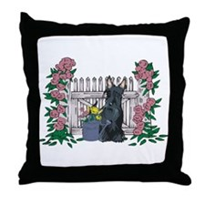 Summer Time Scottie Throw Pillow
