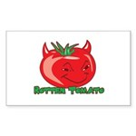 Rotten Tomato Rectangle Sticker 10 pk)