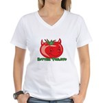 Rotten Tomato Women's V-Neck T-Shirt
