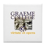 Graeme College History II Tile Coaster