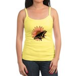 Purple Coneflower/Black Swall Jr. Spaghetti Tank