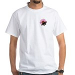Purple Coneflower/Black Swallowtail White T