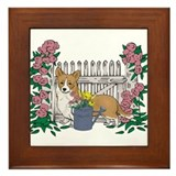 Summer Time Corgi Framed Tile