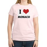 I Love Monaco Women's Pink T-Shirt