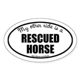 Rescued Horse Oval Bumper Stickers