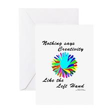 Left Handed Creativity Greeting Card